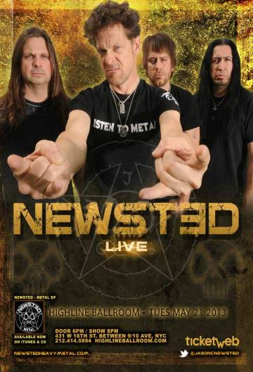 Poster - Newsted at Highline Ballroom - 2013