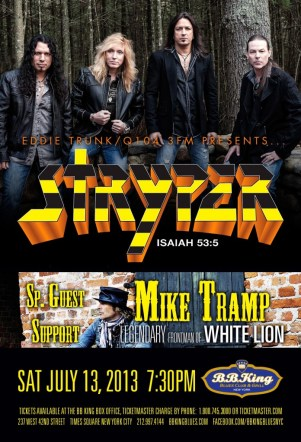 Poster - Stryper at BB Kings - 2013