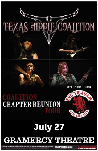 Poster - Texas Hippie Coalition at Gramercy - 2013