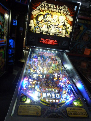 metallica pinball machine, stern pinball machines, metallica