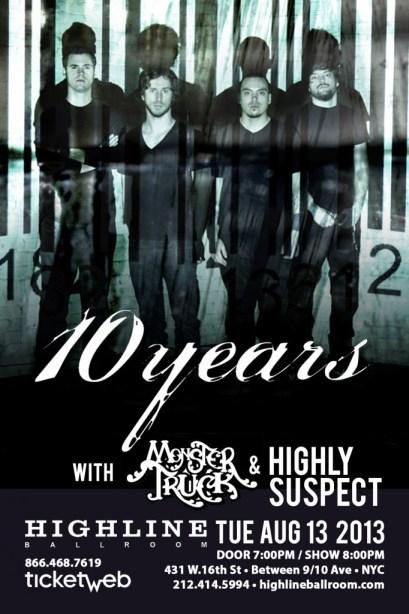 Poster - 10 Years at Highline Ballroom - 2013