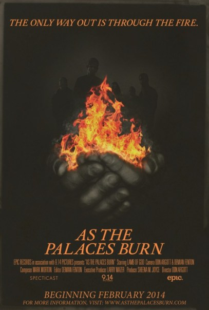Poster - LOG - As The Palaces Burn - 2014