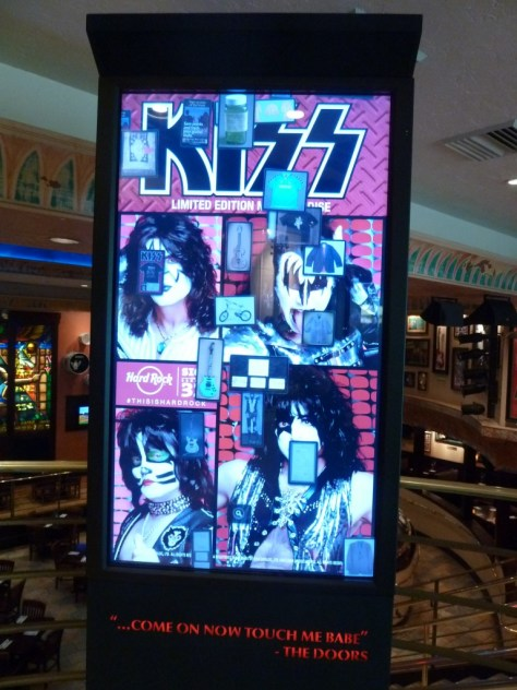 hard rock cafe, kiss memorabilia