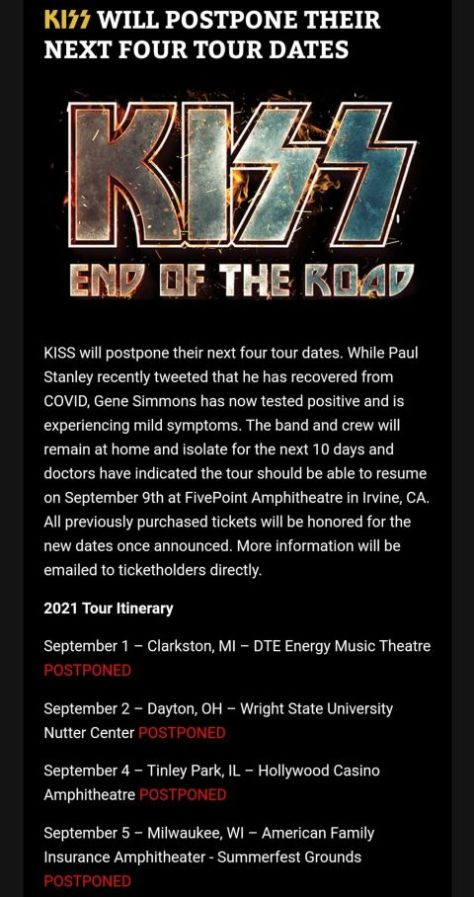 kiss, end of the road world tour, hottest band in the world