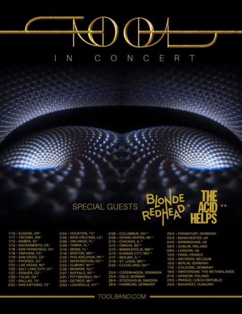tour posters, promotional posters, tool, tool tour posters