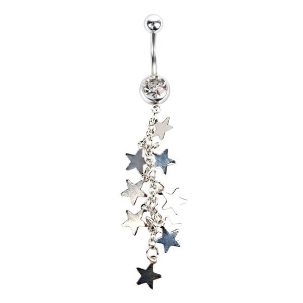 Fashion Göbek Piecing Shiny Stars