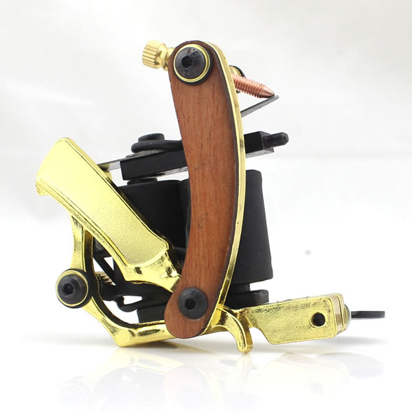 Dövme Makinası Wooden Razor gold-plated