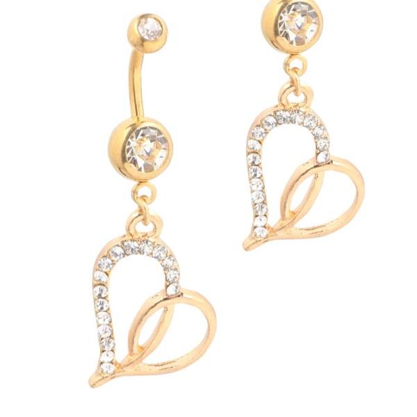 Fashion Göbek Piercing Gold Heart