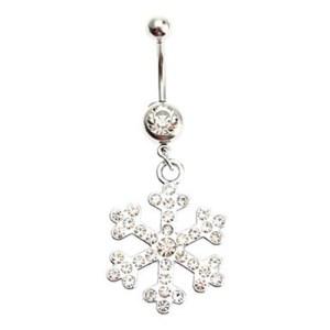 Fashion Göbek Piercing Snowflake