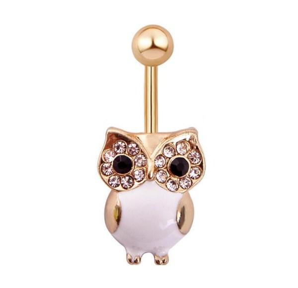 Fashion Göbek Piercing Ceramic Owl