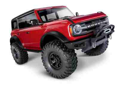 Traxxas - 92076-4-Red Ford Bronco