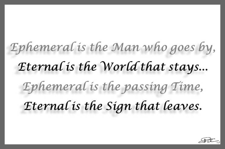 The Ephemeral and The Eternal – Text