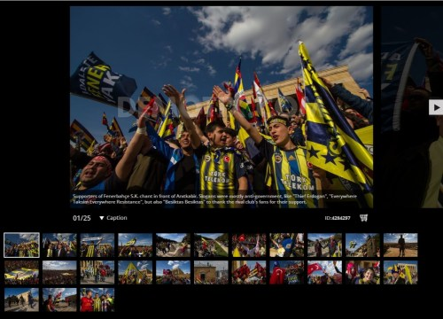 Fenerbahçe fans rally at Atatürk Mausoleum in Ankara - Turkey