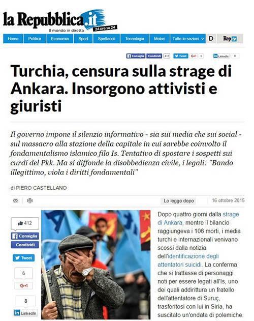Censorship on Ankara station massacre