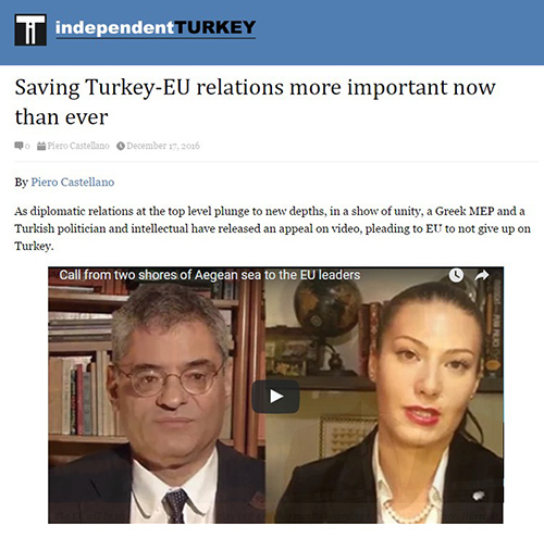 Saving Turkey-EU relations more important now than ever