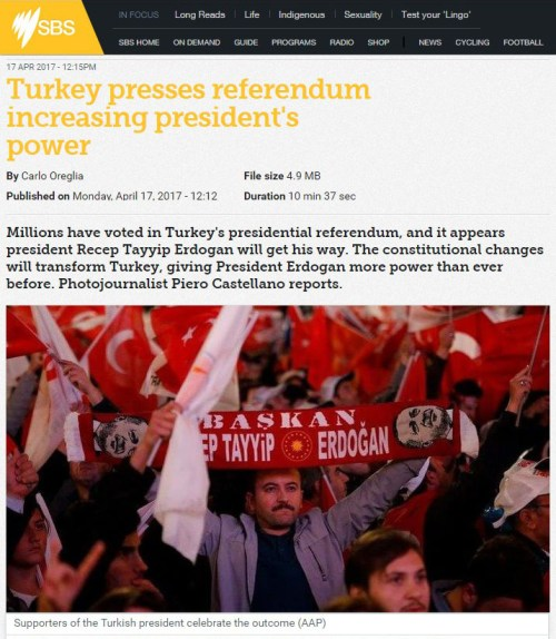 Turkey presses referendum increasing president's power