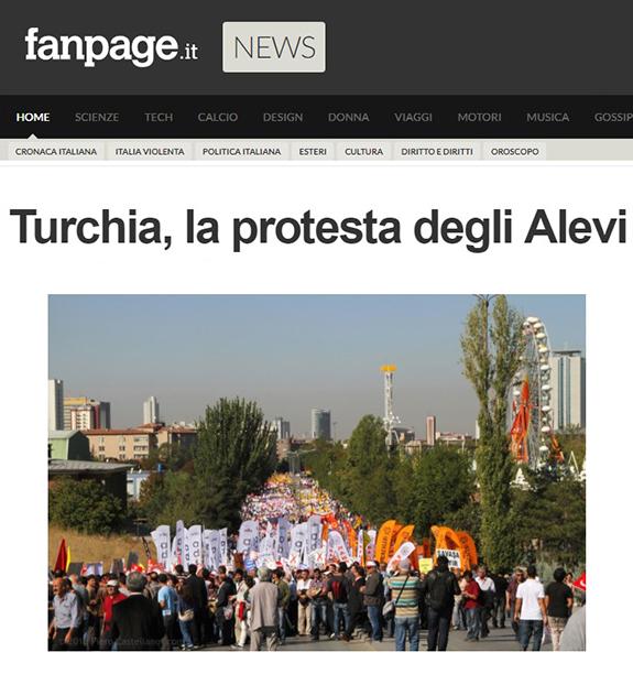 Alevi minority protest in Ankara