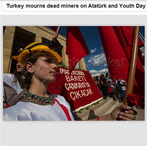Turkey marks Atatürk and Youth Day mourning dead miners