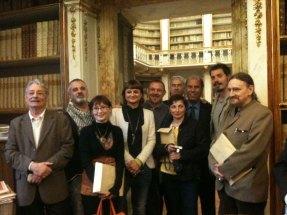 Maggio 2013 Piero Colombani inaugurazione mostra ALUMINA presso Antica Biblioteca Riccardiana a Firenze