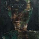 Figura in nero, 1973 olio su tela, cm 120x90