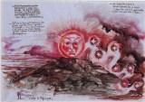 Visione del Drago Lunare, 1999 inchiostri, penna e acquarello su carta pergamena, cm 100 x 70