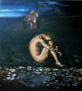 Il Capro Espiatorio, 1998 tempera e olio su tela, cm 200 x 180