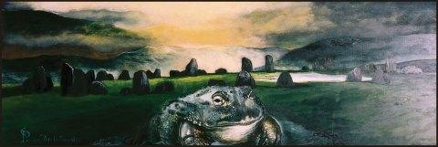 Dopo la tempesta II, 1996 olio su tela, cm 90x30 collezione privata, Milano