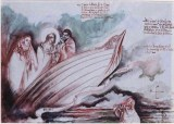 Visione di Michele, 1999 inchiostri, penna e acquarello su carta pergamena, cm 100 x 70