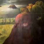 Gli abitanti del profondo (dedicato a H.P. Lovecraft), 1980 olio su tela, cm 200 x 150 collezione privata