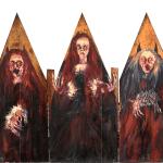 Trittico la Porta delle Streghe, 1986 olio su tavola, cm 120x130 collezione privata