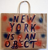 NYC Is an Object - 2011, enamel on found material (paper), approx. 16 x 12 x 5 inches