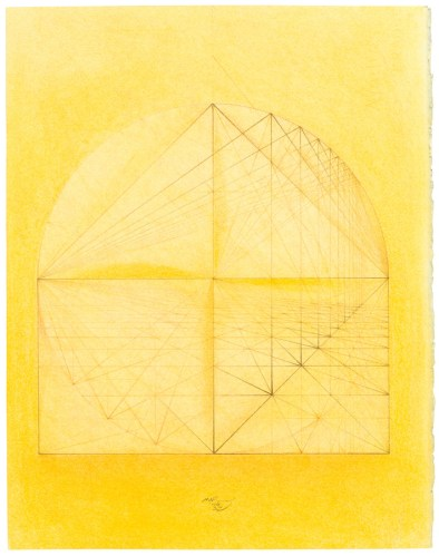 """Mark Reynolds - """"Thales Series: ATROTW, Fractions and Roots, 6.06,"""" 2006, Pastel, graphite, and colored pencil on cotton paper, 14 x 11 inches"""