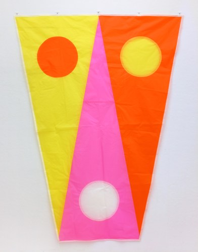 """Reed Anderson - """"Dragonfly,"""" 2017, UV-coated ripstop nylon, 97 x 74 inches"""
