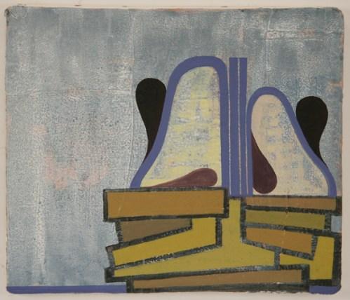 Sympathy Altar - 2011, Oil paint on cast plastic, 12 1/2 x 14 1/2 inch