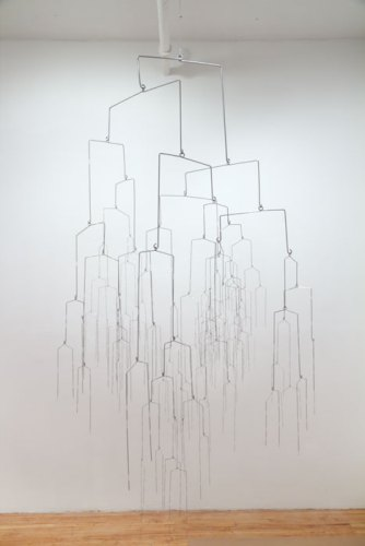 "Beth Campbell - ""There's No Such Thing as a Good Decision (Glaze),"" 2009-14, Painted powdered steel rod and wire, Approx. 84 x 42 x 42 inches"