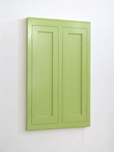 """Francis Cape - """"Cabinet 58,"""" 2005, Wood and paint, 47.75 x 29.5 x 2.5 inches. Courtesy of Murray Guy."""
