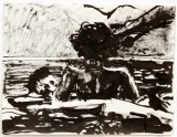 Angela Vickers (A Place in the Sun, 1951) - 2010, Sumi ink on paper, 8.5 x 11 inches