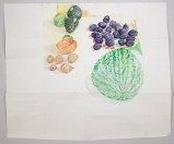 "Dawn Clements - ""Fruit,"" 2015, Watercolor on paper, 64.5 x 76.5 inches. Sold."