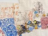 "Dawn Clements - Detail:  ""My bed pleins d'odeurs légères,"" 2007, Gouache, Ballpoint Pen Ink, Graphite, on Paper, 119 x 166.5 inches Photo: John Berens"