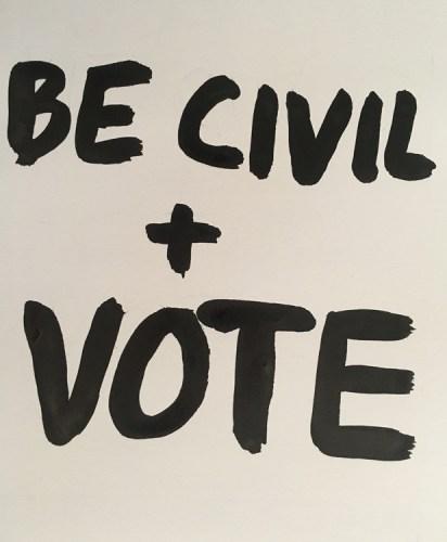 "Dawn Clements (2) - ""BE CIVIL + VOTE"""