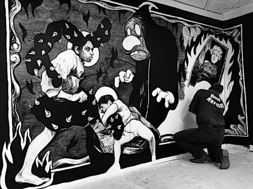 """Hugo Crosthwaite - """"Tijuana Bible,"""" Mural Installation"""