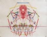 Daniel Davidson - Mirror (Ferris), 2012, watercolor on paper, 19 x 24 inches