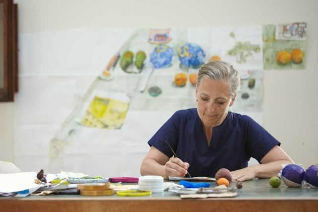 Dawn Clements - During her Civitella Ranieri Residency, 2013