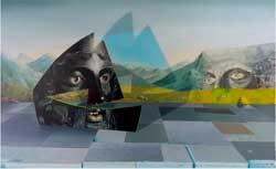 "Kirsten DeirupWarriorArk-thmb - ""Warrior Ark,"" 2015, Oil on linen over panel, 30 x 40 inches"