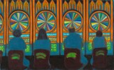 "Jane Dickson - ""Wheel of Fortune,"" 2012, Oil on canvas, 30 x 50 inches"