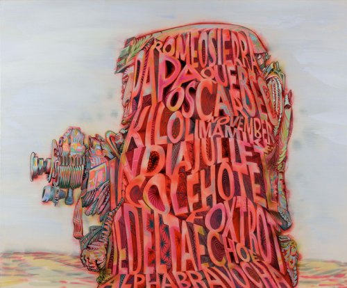 Alphabravo - 2010, acrylic on canvas, 55 x 66 1/4 inches
