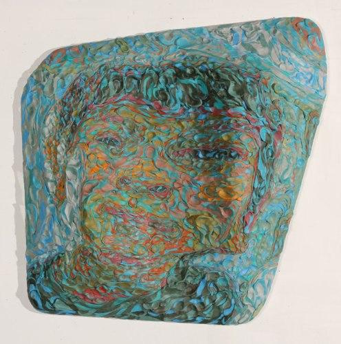"James Esber - ""Falcone Heene,"" 2010, Plasticine, 30.5 x 30.5 x 6 inches"