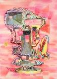 "James Esber - ""Hummel With Holes,"" 2010, Acrylic on canvas, 44 x 32 inches"