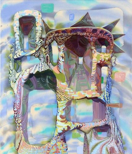 "James Esber - ""SOL,"" 2010, acrylic on canvas, 35 1/8 x 30 1/8 inches."