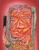 "James Esber - ""Selfie,"" 2019, Acrylic on PVC panel, 40.5 x 32 inches"